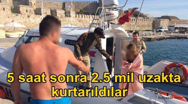Ayazma'da gece deniz yatağına binen çift 5 saat sonra kurtarıldı