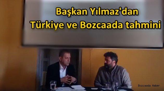 Başkan Yılmaz, Bozcaada Tv'de konuştu