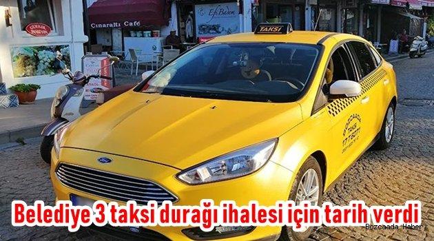 Belediye 3 taksi durağını daha ihaleye çıkarıyor