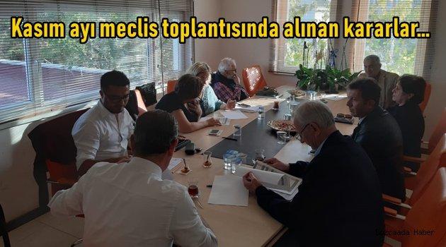 Bozcaada Belediyesi'nin kasım ayı meclis toplantısı gerçekleşti