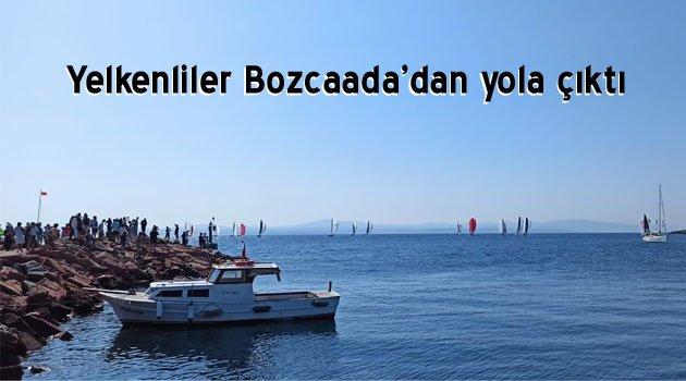 Bozcaada'dan yola çıkan yelkenliler güneye iniyor