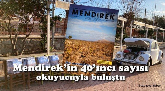 Bozcaada'nın dergisi Mendirek 40'ıncı sayısıyla okuyucu karşısında