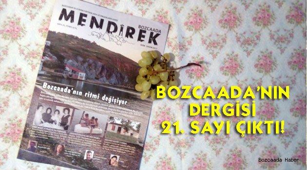 Bozcaada'nın dergisinin 21. sayısı ekimi beklemeden basıldı