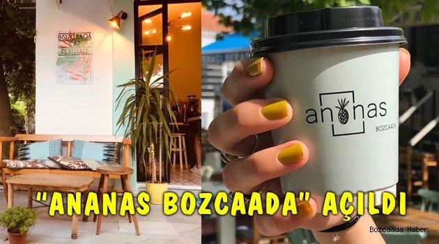 "Bozcaada'nın yeni kafesi: ""Ananas Bozcaada"""