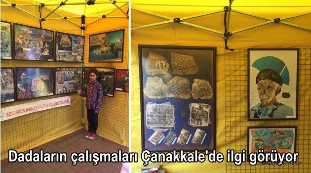 Bozcaada Spor ve Kültür Derneği öğrencilerinin çalışmaları Çanakkale'de sergileniyor