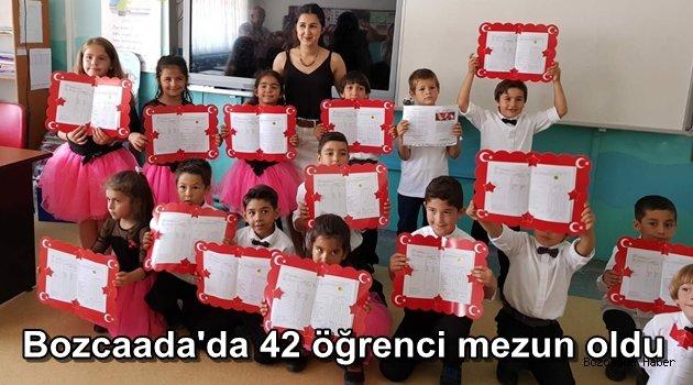 Bozcaada'da 158 öğrenci karne heyecanı yaşadı