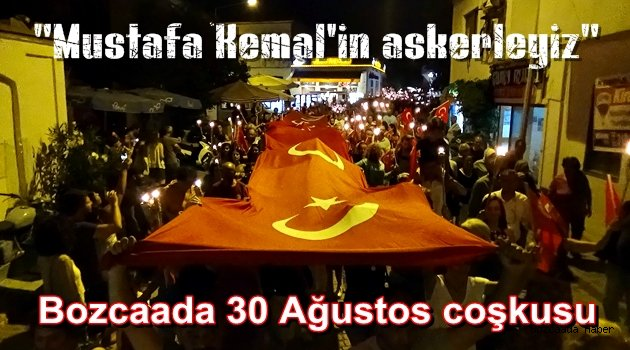 Bozcaada'da 30 Ağutos Zafer Bayramı coşkusu