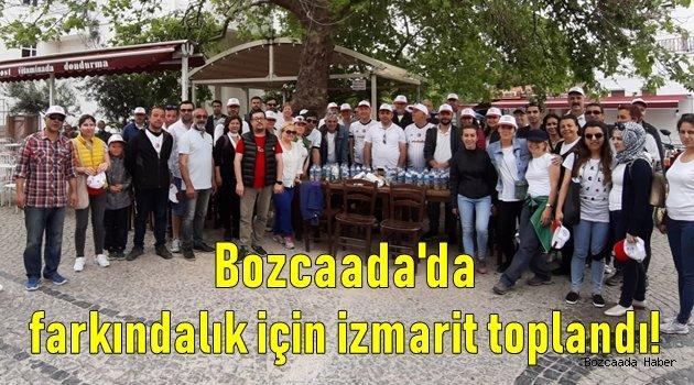 Bozcaada'da farkındalık yaratmak için sigara izmariti toplandı