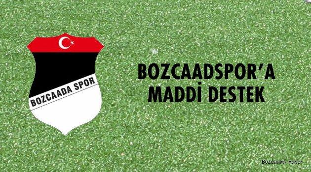 Bozcaadaspor'a maddi destek