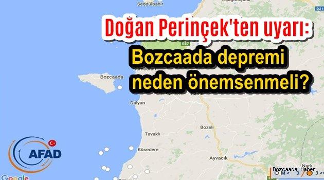 Deprem uzmanı Doğan Perinçek: Bozcaada depremi önemsenmeli