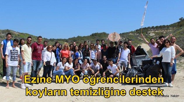 Ezineli MYO öğrencilerinden koyların temizliğine destek