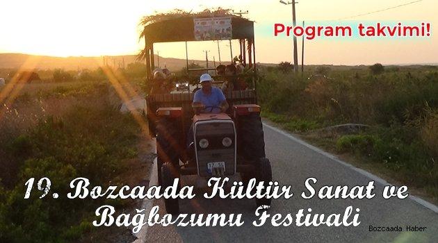 İşte '19. Bozcaada Kültür Sanat ve Bağbozumu Festivali' program takvimi