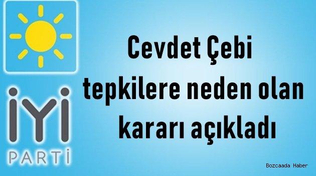 """İYİP'li meclis üyesi Çebi'den """"kabul"""" kararına ilişkin açıklama"""