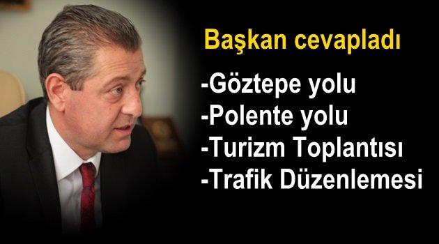Başkan: Göztepe yolu yakında düzeltilecek