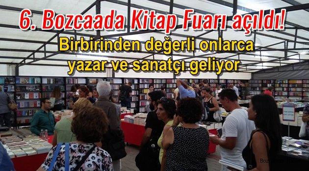 Bozcaada Kitap Fuarı altıncı yılında, 60 bin kitapla açıldı!