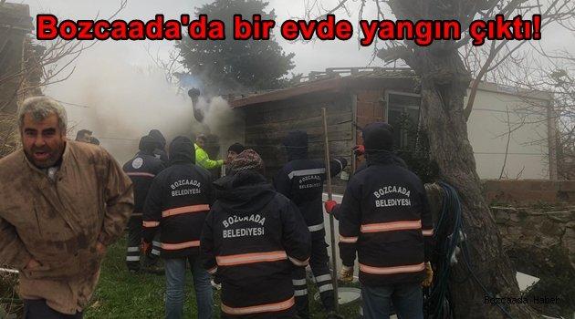 Bozcaada'da bir evde yangın çıktı!
