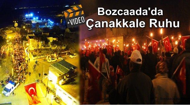 Bozcaada'da Çanakkale Destanı böyle kutlandı