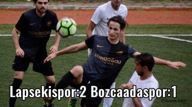 Bozcaadaspor, deplasmanda Lapsekispor'a 2-1 yenildi
