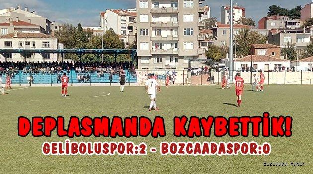 Bozcaadaspor, Geliboluspor'a mağlup oldu