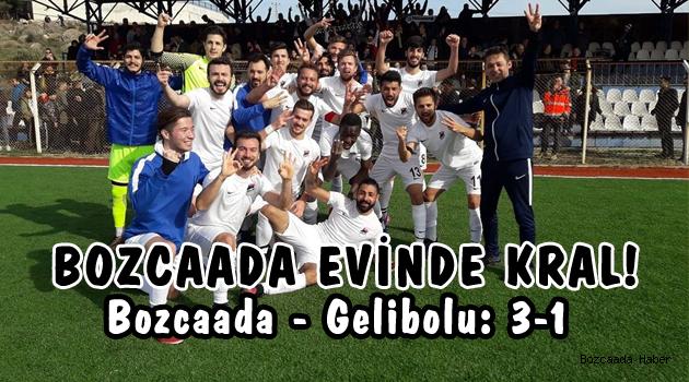 Bozcaadaspor, lig lideri Geliboluspor'u 3-1 yendi