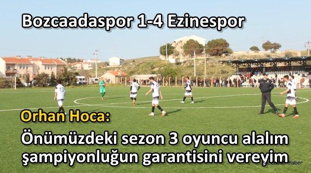 Bozcaadaspor, sahasında Ezinespor'a 4-1 mağlup oldu