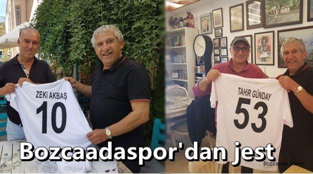 Bozcaadaspor'dan destekçilerine jest