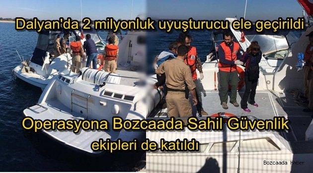 2 milyonluk uyuşturucu operasyonuna Bozcaada Sahil Güvenlik ekipleri de katıldı