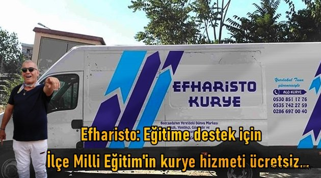 Efharisto'dan İlçe Milli Eğitim'e destek