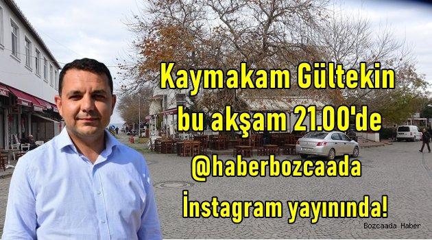 Kaymakam İbrahim Gültekin, bu akşam 21.00'de canlı yayında!