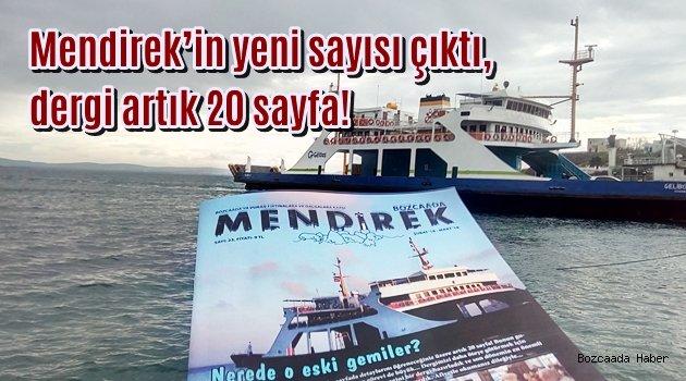 Mendirek'in yeni sayısı çıktı, dergi artık 20 sayfa!