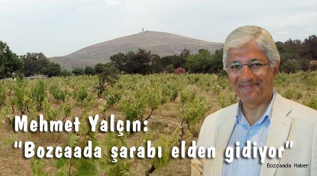 """Mehmet Yalçın: """"Bozcaada şarabı elden gidiyor"""""""