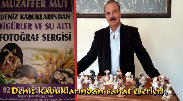 Muzaffer Mut'un deniz kabuklarından oluşan sergisi Armagrandi Otel'de!