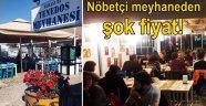 Tenedos Meyhanesi'nden enflasyona karşı çılgın fiyat!