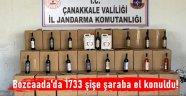 Bozcaada'da 1733 şişe şaraba el konuldu!
