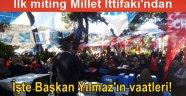 İlk mitingini yapan Millet İttifakı, AKP'ye yüklendi!