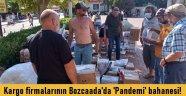 Kargo firmaları  bu kez Bozcaada'da dağıtım yapmadan geri döndü