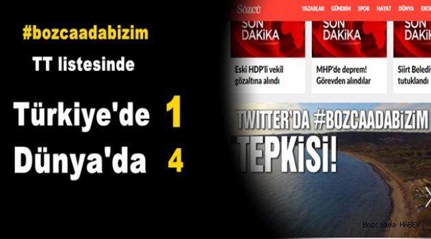 Tüm Türkiye #bozcaadabizim diyor