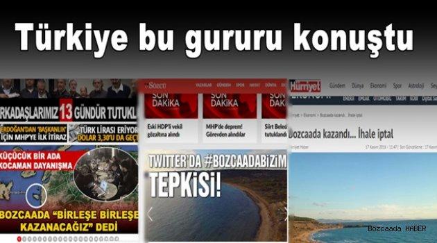 Türkiye Bozcaada için #bozcaadabizim dedi