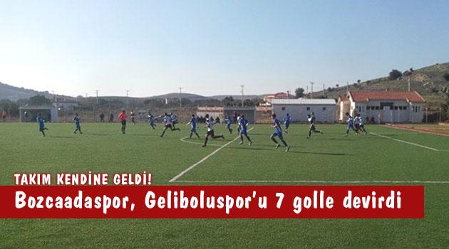 Bozcaadaspor Geliboluspor Maçı: 7-3