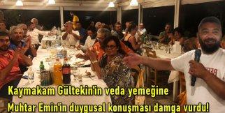 Kaymakam Gültekin'in veda yemeğine Muhtar Emin'in duygusal konuşması damga vurdu!